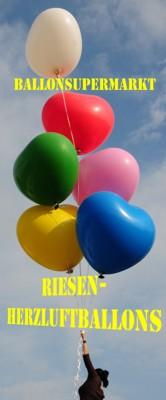 Riesen-Herzluftballons, riesige Luftballons in Form von Herzen, große Herzluftballons sind die Sensation