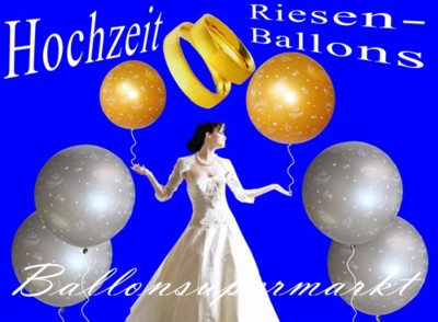 Riesenluftballons Just Married zur Hochzeit