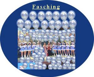 Faschingsfeier mit Luftballons