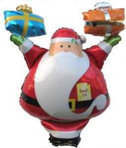 Der Nikolaus schenkt Nikolausballons