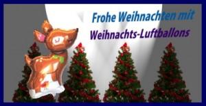 Frohe Weihnachten mit Weihnachts-Luftballons