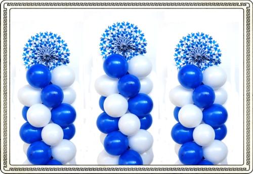 Oktoberfest Dekoration aus Luftballons mit bayrischer Rosette