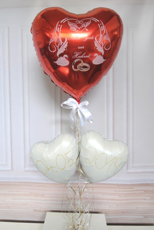 Alles Gute zur Hochzeit Luftballons mit Datum des Hochzeitstages