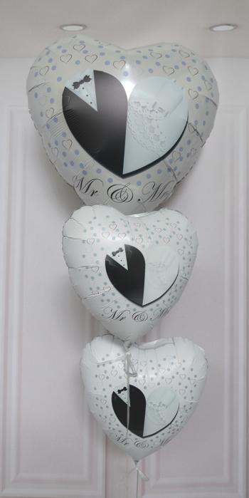 Mr & Mrs Luftballon Bouquet