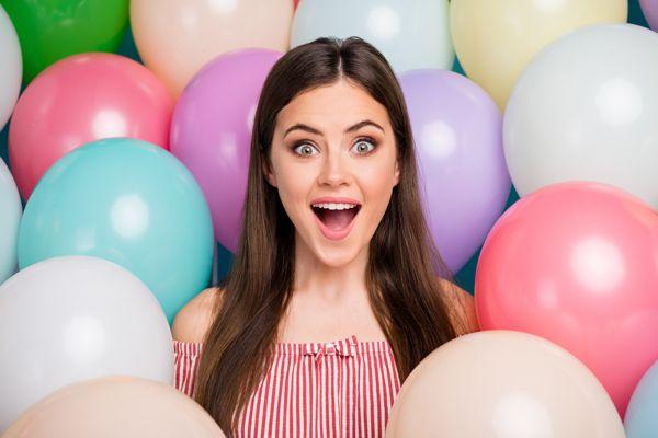 Luftballons Pastellfarben