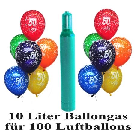 zum 50 geburtstag 100 luftballons mit helium inkl. Black Bedroom Furniture Sets. Home Design Ideas
