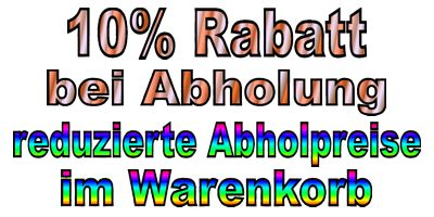 10 Prozent Rabatt auf Abholung