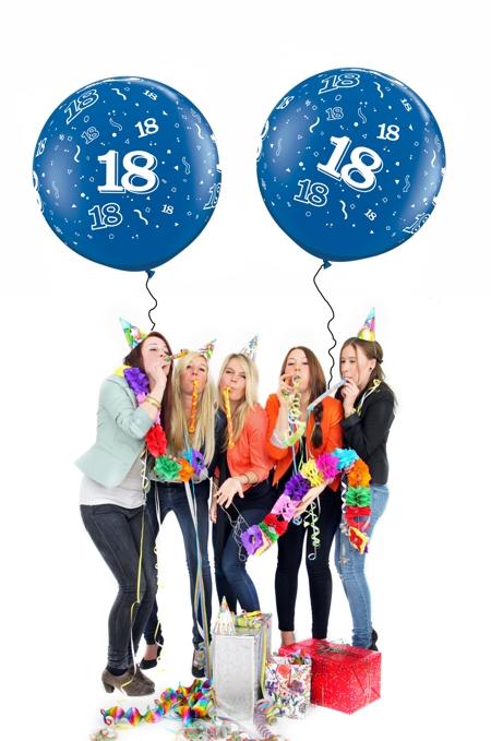 Luftballons mit Zahlen, Dekoration, Geburtstagsdeko