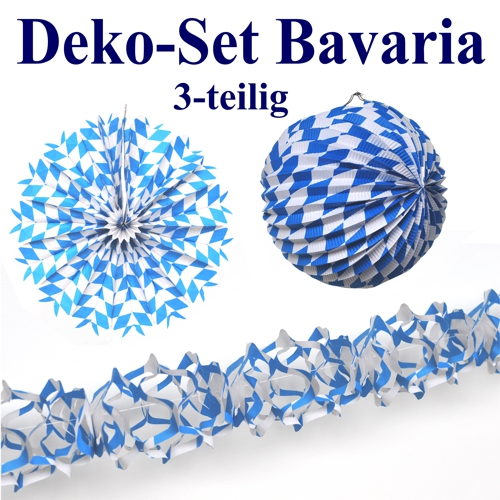 ballonsupermarkt deko set bavaria oktoberfest dekoration blau wei bayrische. Black Bedroom Furniture Sets. Home Design Ideas