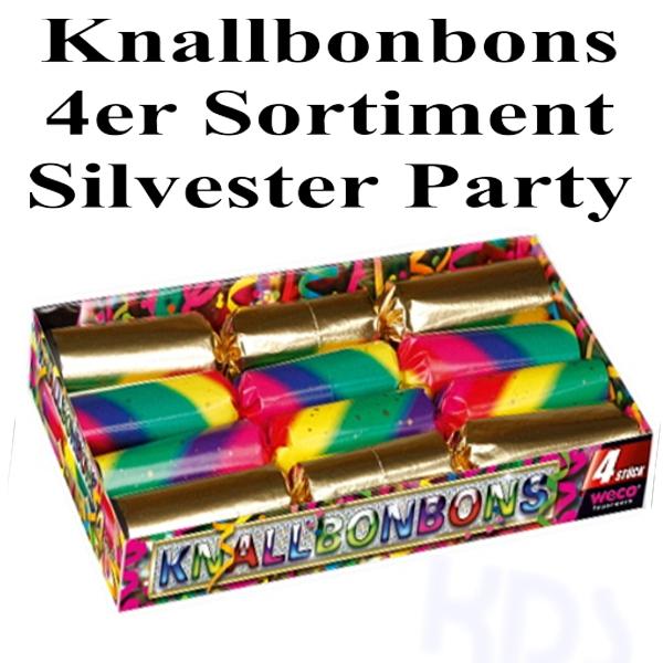 ballonsupermarkt knallbonbons 4er set silvester party silvester partyzubeh r. Black Bedroom Furniture Sets. Home Design Ideas