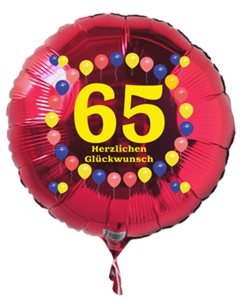Ballonsupermarkt-Onlineshop.de - Luftballon 65. Geburtstag