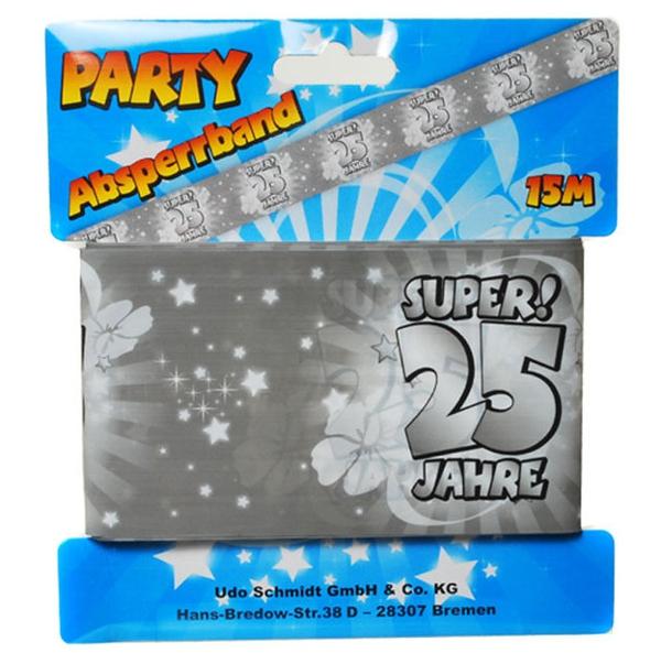Ballonsupermarkt absperrband super 25 - Dekoration zur silberhochzeit ...