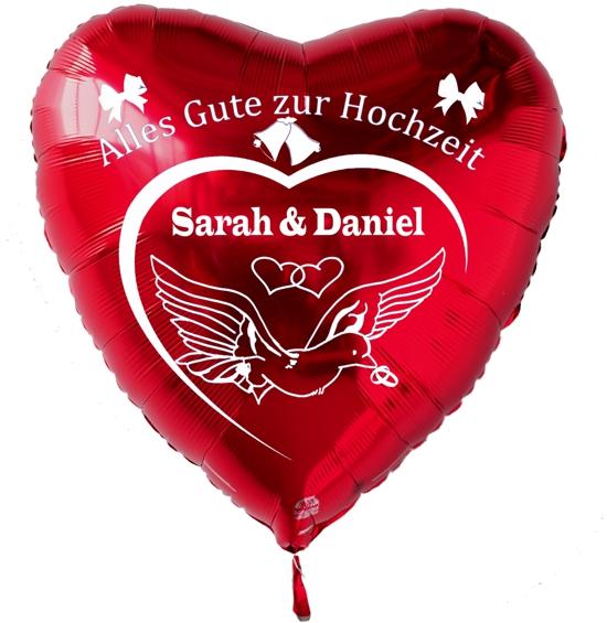 personalisierter Luftballon zur Hochzeit