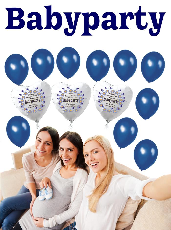 Babyparty Boy mit Luftballons