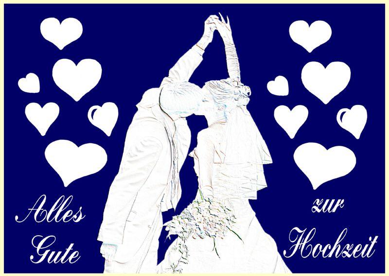 ... Karten - Ballonflugkarten Hochzeit, Hochzeitspaar - Karten / Hochzeit