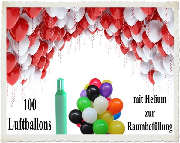 100 bunte luftballons mit helium zur raumbef llung luftballons zur raumbef llung luftballons. Black Bedroom Furniture Sets. Home Design Ideas