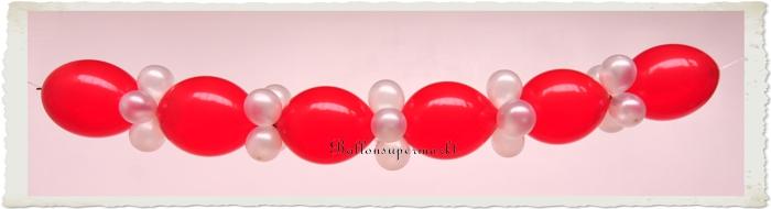 ballongirlande zum selbermachen ballondekoration aus kettenballons in rot wei 3 meter do. Black Bedroom Furniture Sets. Home Design Ideas
