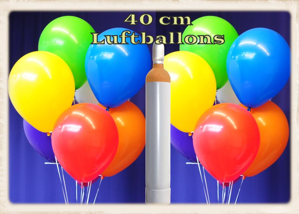 ballonsupermarkt maxi set 12 100 bunte luftballons 40 cm mit helium ballons. Black Bedroom Furniture Sets. Home Design Ideas