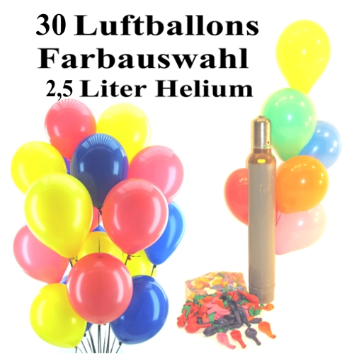 midi ballons helium set 30 bunte luftballons mit heliumflasche und ballonflugkarten zum abitur. Black Bedroom Furniture Sets. Home Design Ideas