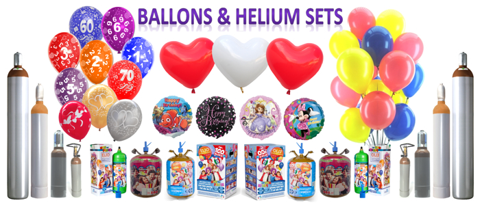 Ballons und Helium Sets
