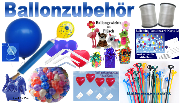 Ballonzubehör: Praktisches Hilfsmaterial für Aktionen mit Luftballons