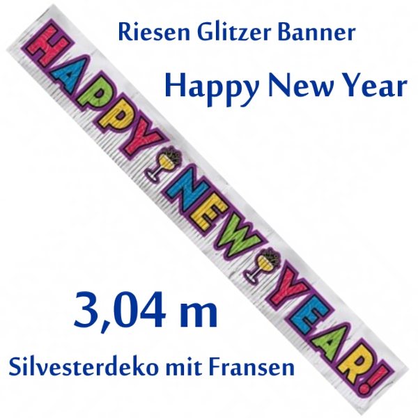 Banner-Happy-New-Year-glitzernd-Fransen-Dekoration-Silvester-Neujahr