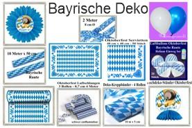 Bayrische Festdekoration und Luftballons
