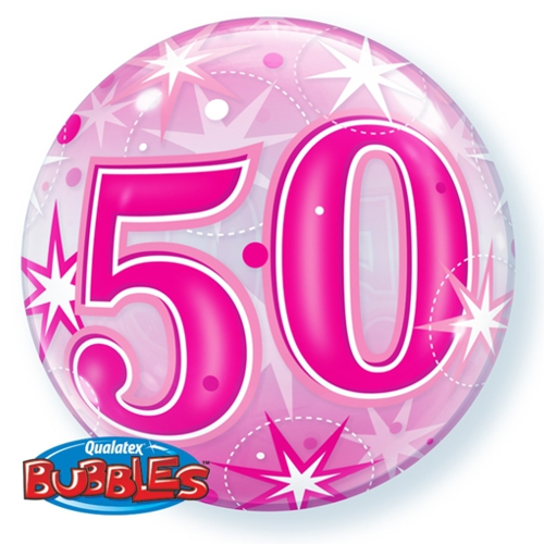 luftballon zum 50 geburtstag pink bubble luftballon ohne helium bubbles luftballons ohne. Black Bedroom Furniture Sets. Home Design Ideas