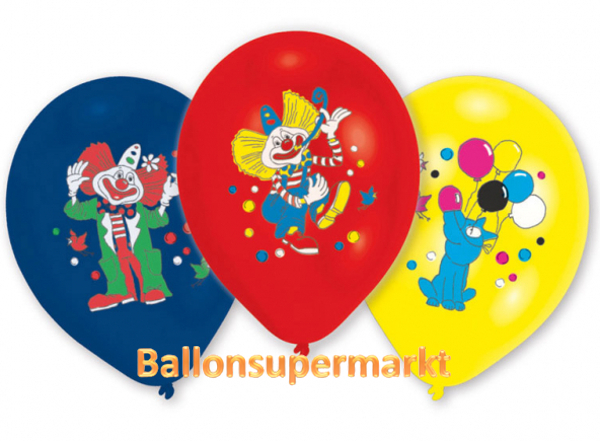 Clown-Luftballons-8-Stueck