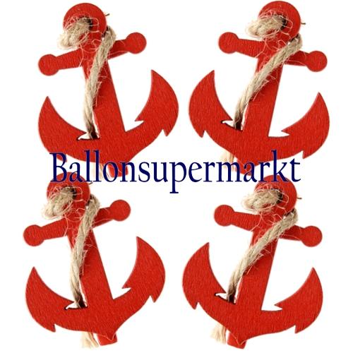 Ballonsupermarkt Deko Klammern Anker Rot
