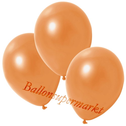 Deko-Metallic-Luftballons-Orange-Ballons-aus-Natur-Latex-zur-Dekoration