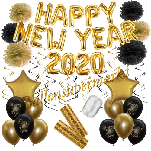 Silvester Partydeko Set Happy New Year 2020