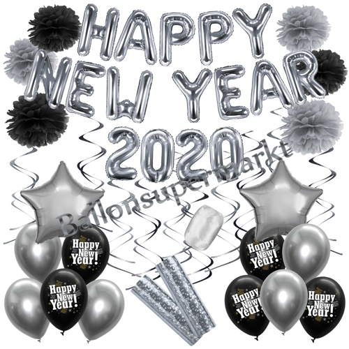 Dekoration Silvester. Silvester-Deko Set Happy New Year