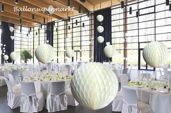 ballonsupermarkt wabenkugel wei 10stck 40cm wabenkugeln dekoration. Black Bedroom Furniture Sets. Home Design Ideas