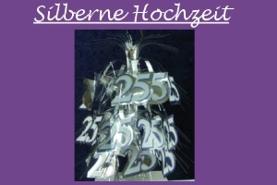 Dekoration Silberne Hochzeit