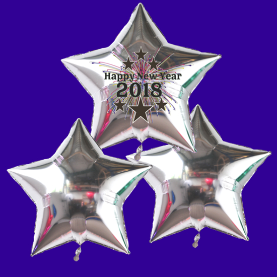 Partydekoration Silvester 2018 mit Sternen