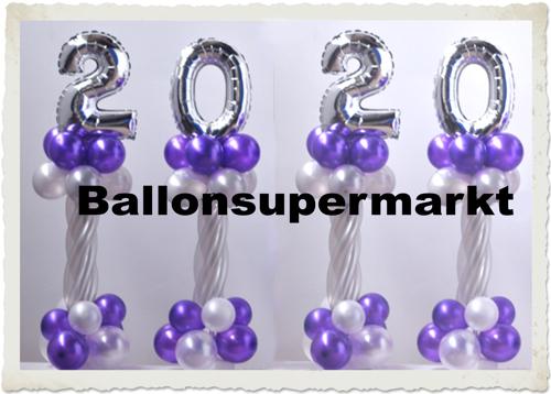 Ballondekoration, Partydekoration Silvester