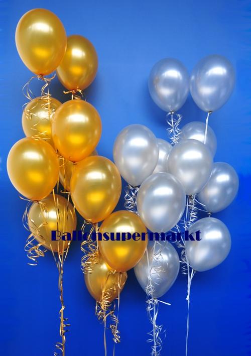 Ballonsupermarkt luftballons silber 28 cm for Dekoration mit luftballons