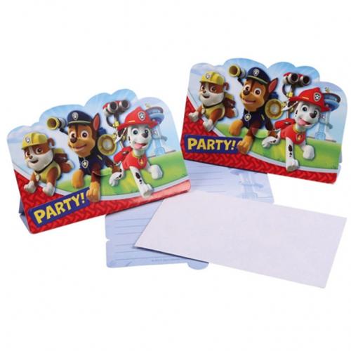 einladungskarten paw patrol, partydekoration kindergeburtstag