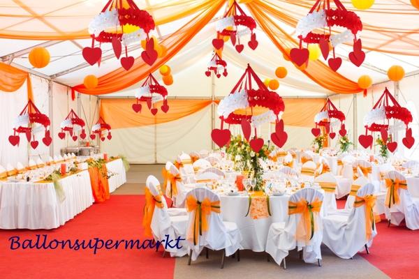 Ballonsupermarkt kr nze mit herzen rot for Festzelt dekoration