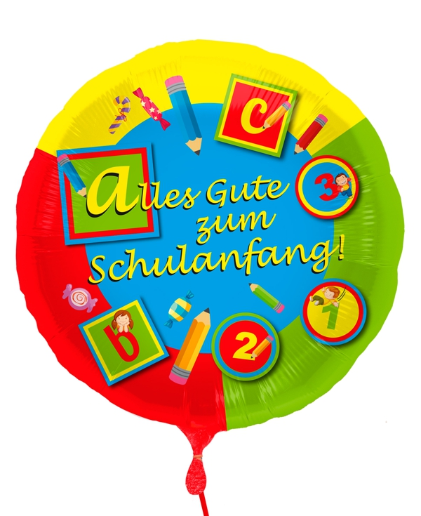 Alles Gute Zum Schulanfang Luftballon Aus Folie Mit Helium