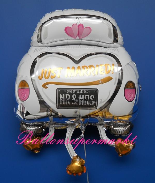 Ballonsupermarkt-Onlineshop.de - Großer Hochzeitsballon, Auto, Just ...