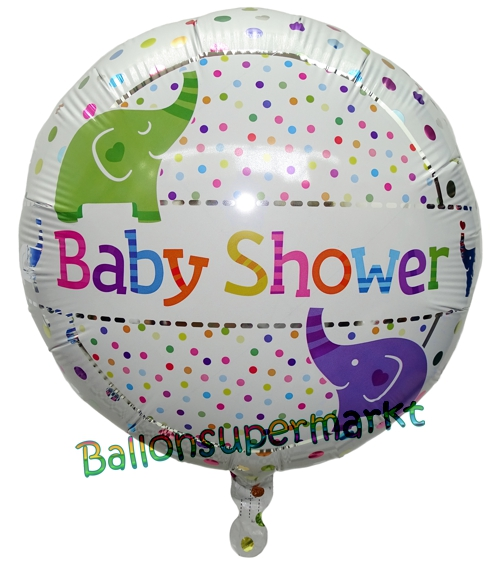 Folienballon-Baby-Shower-Elephants-Luftballon-zur-Geburt-Babyparty-Taufe-Elefanten