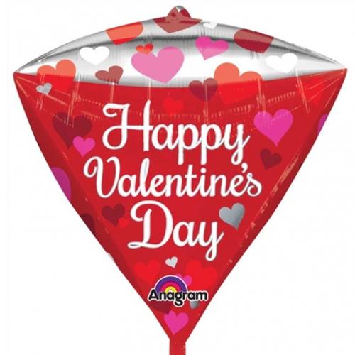 happy valentine 39 s day luftballon diamondz ohne helium folienballons i love you ohne. Black Bedroom Furniture Sets. Home Design Ideas