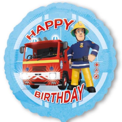 Folienballon Feuerwehrmann Sam Happy Birthday Folienballon Mit