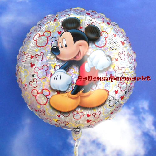 folienballon mickey mouse holografisch folienballon mit ballongas ballonsupermarkt. Black Bedroom Furniture Sets. Home Design Ideas