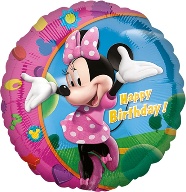 happy birthday minnie mouse folienballon ohne ballongas ballonsupermarkt. Black Bedroom Furniture Sets. Home Design Ideas