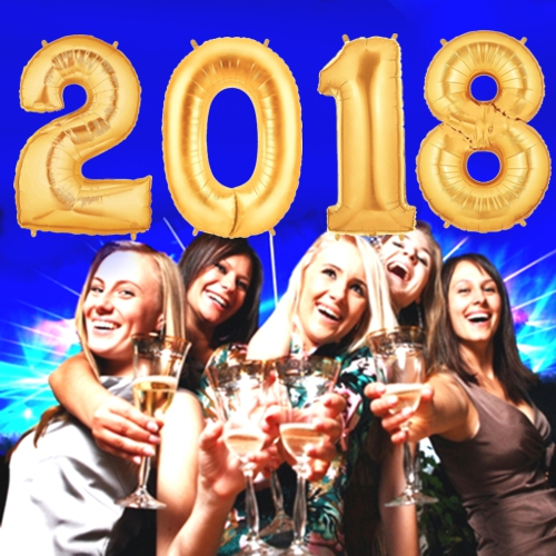 Silvester Luftballons 2018 Gold