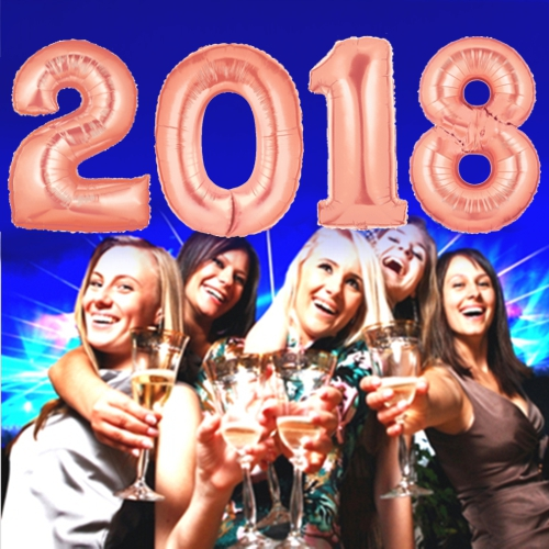 Partydekoration Silvester 2018 Rosegold