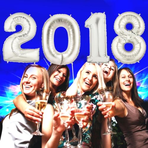 Partydekoration Silvester 2018 Silber